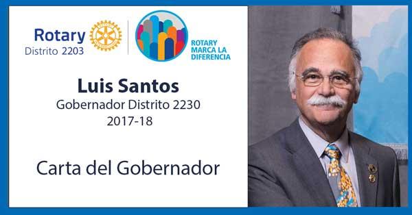 Luis Santos Carta Gobernador 2017-18