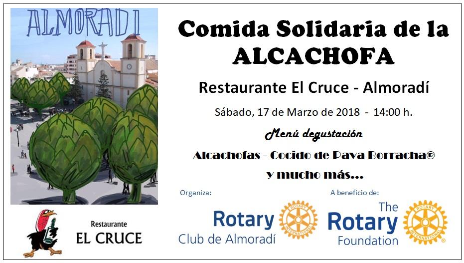 Comida alcachofa de Almoradí a Beneficio de la LFR