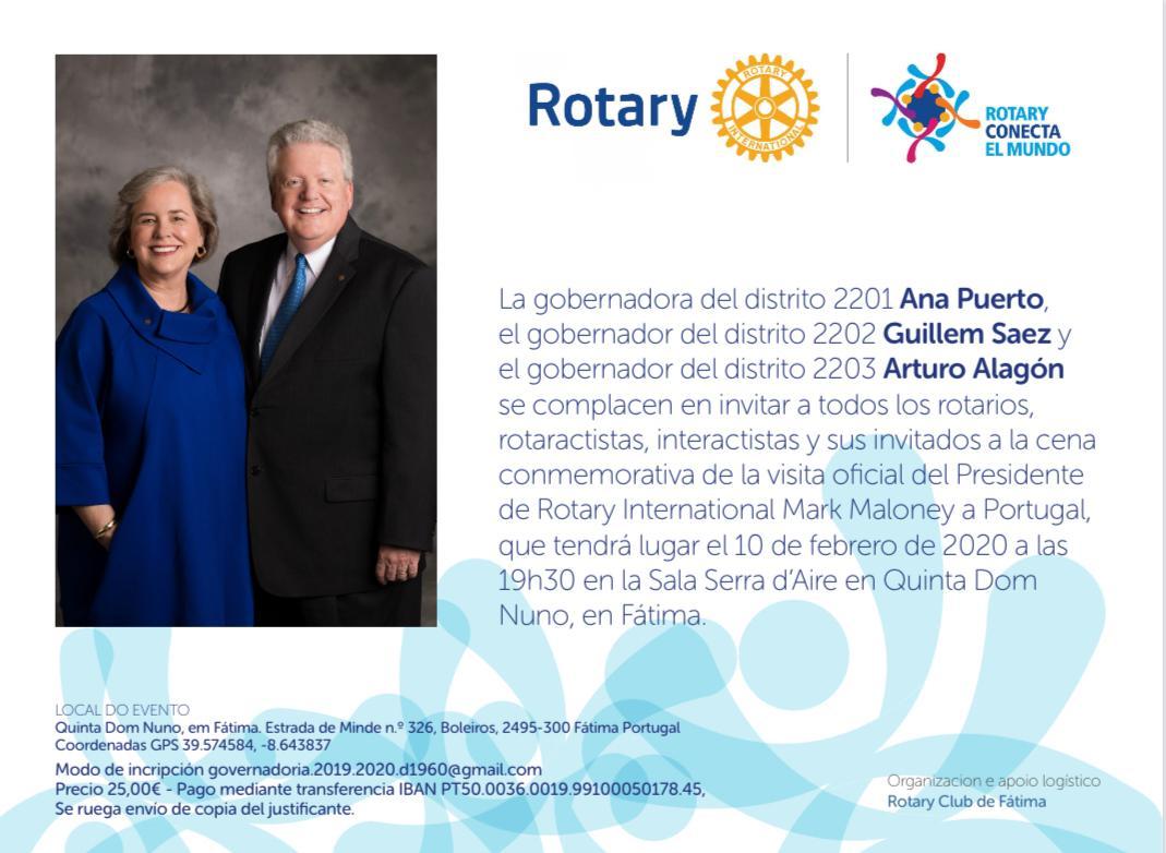 Visita Mark Maloney a Portugal