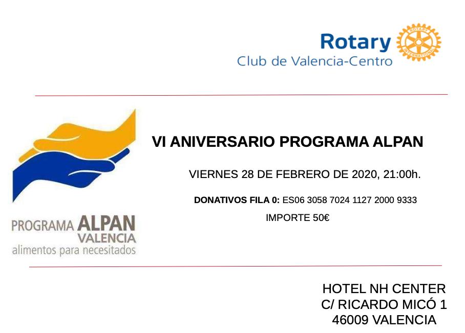 Cena VI aniversario ALPAN