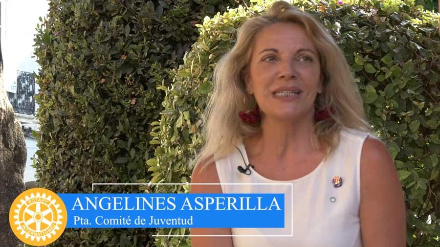 Angelines Asperilla presidente comité juventud distrito 2203