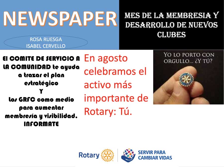 Newspaper Agosto 2021 rotary 2203